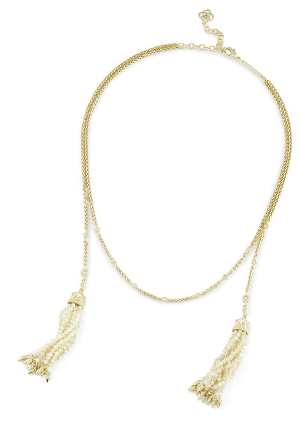 Kendra Scott Monique Necklace Ivory Pearl