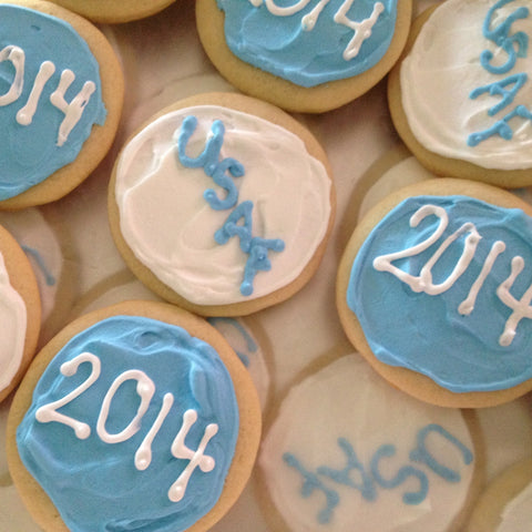 Graduation USAF - Sugar Cookies - 1 dozen