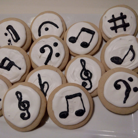 Musical Notes - Sugar Cookies - 1 dozen