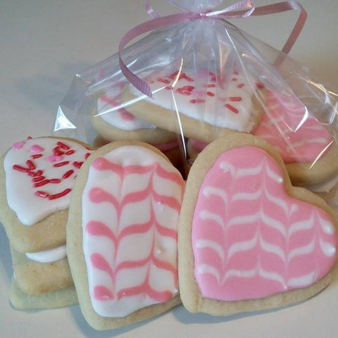 Pink Hearts - Sugar Cookies - 1 dozen