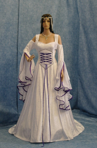Renaissance Dress Medieval Bridal Gown Handfasting Elven Wedding