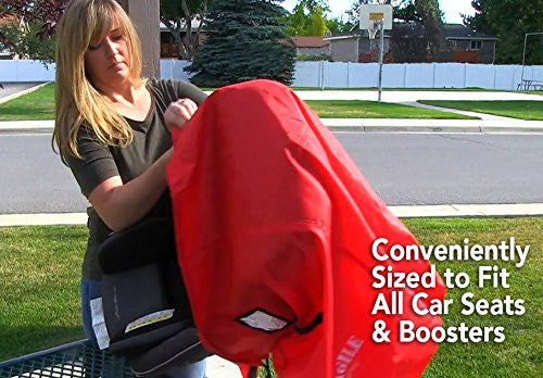 Angel Baby Red Polyester Car Seat Travel Bag - Angel Direct Products - 6