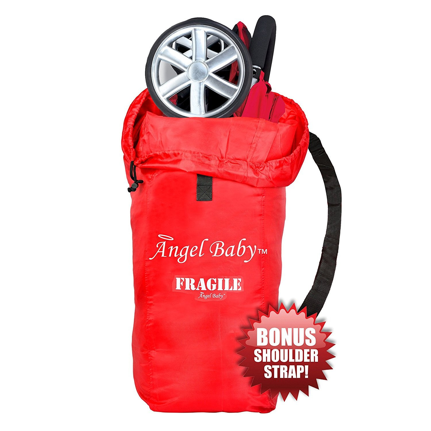 Angel Baby Red Travel Bag for Umbrella Strollers - Angel Direct Products - 1