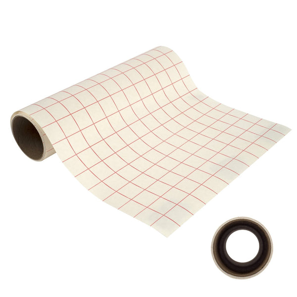 "Angel Crafts 12"" by 8' Transfer Paper Tape Roll w/ Grid - Angel Direct Products - 1"