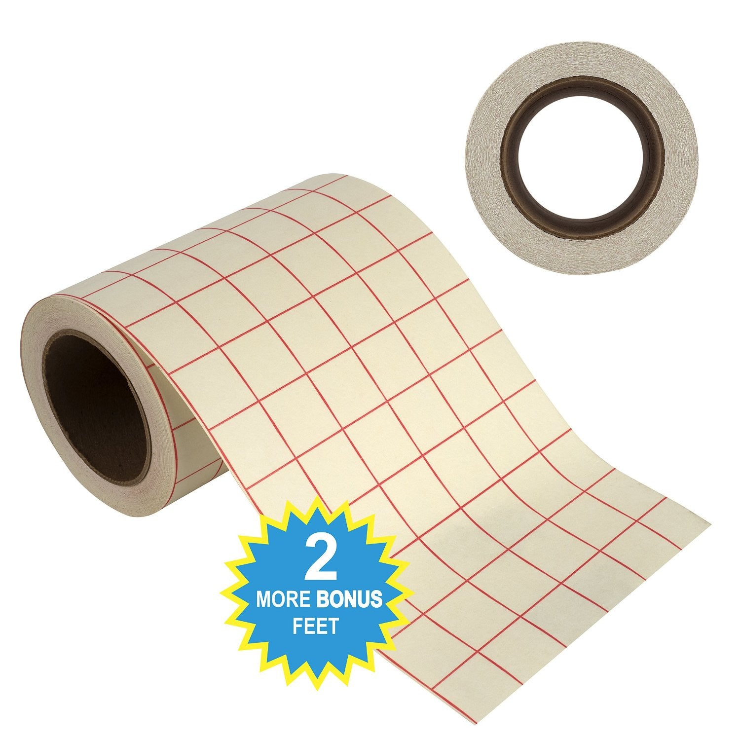 "Angel Crafts 6"" by 50' Transfer Paper Tape Roll w/ Grid - Angel Direct Products - 4"