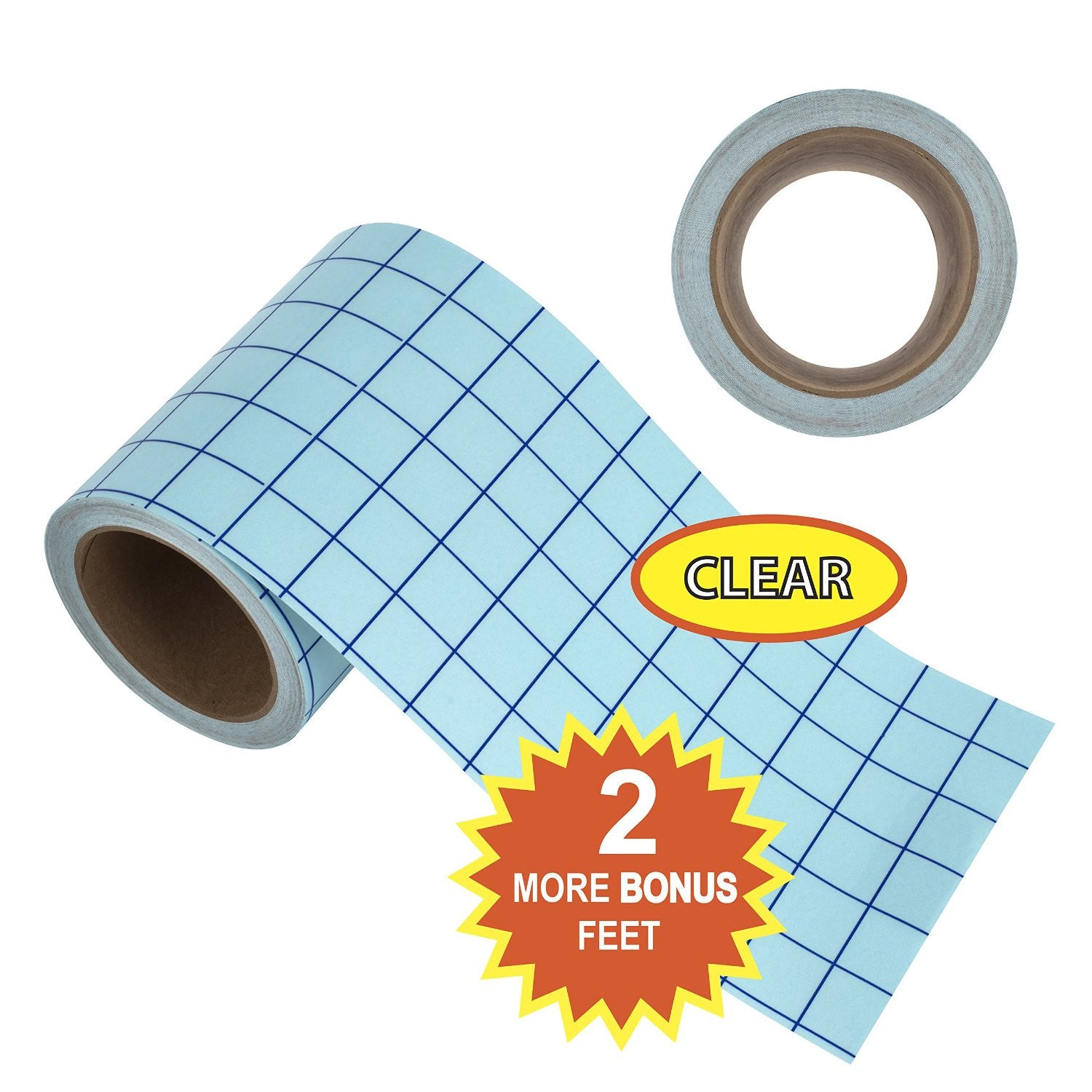 "Angel Crafts 6"" by 50' CLEAR Transfer Paper Tape Roll w/ Grid - Angel Direct Products - 2"