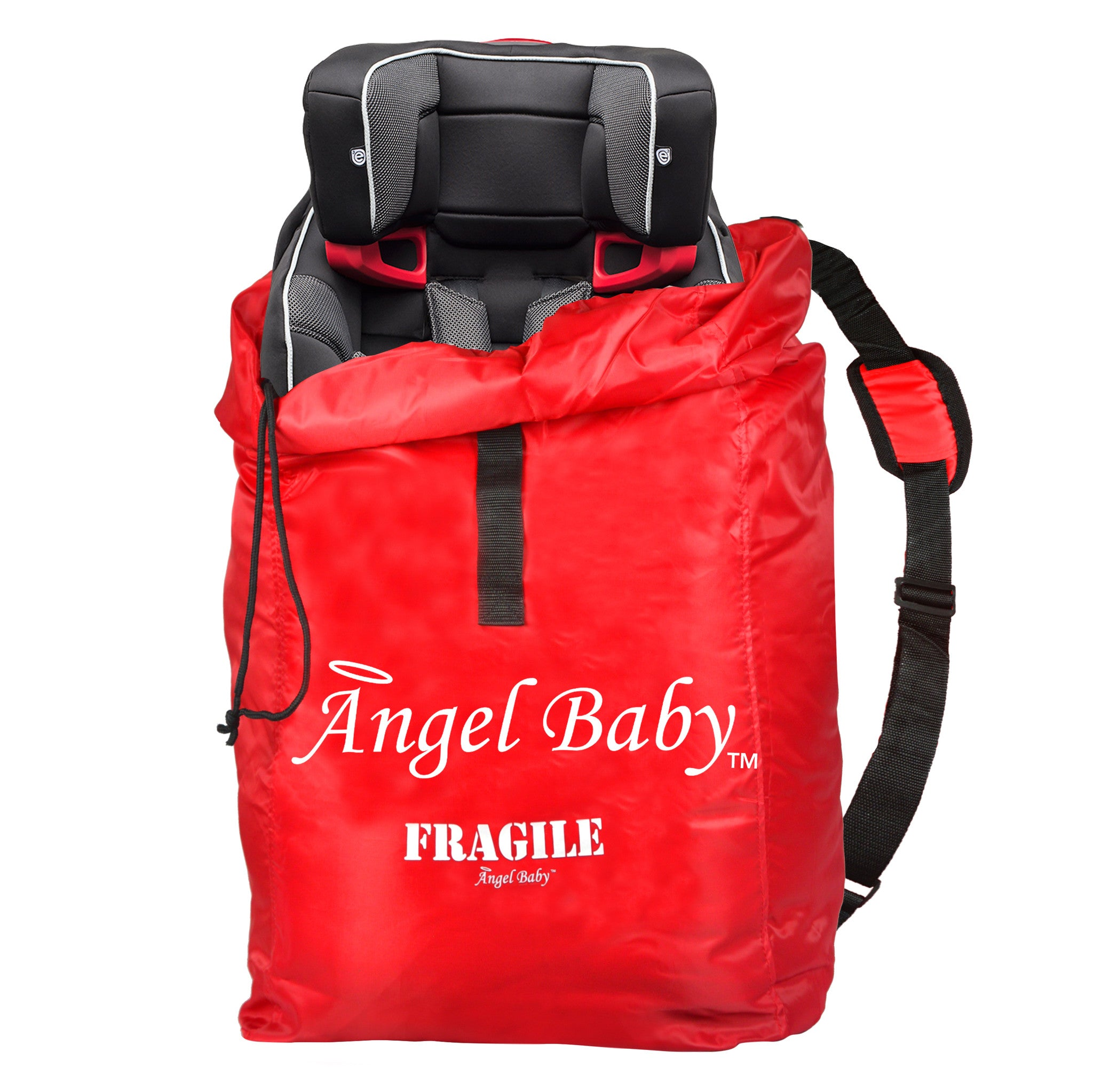 Angel Baby Red Polyester Car Seat Travel Bag - Angel Direct Products - 1