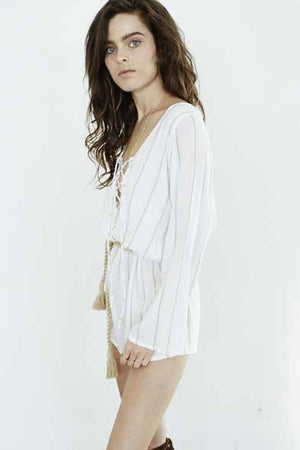 Faithfull the Brand - Positana Playsuit South Beach Taupe