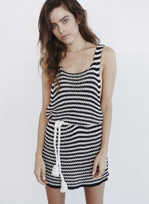 Faithfull the Brand Mykonos Knit Dress Stripe