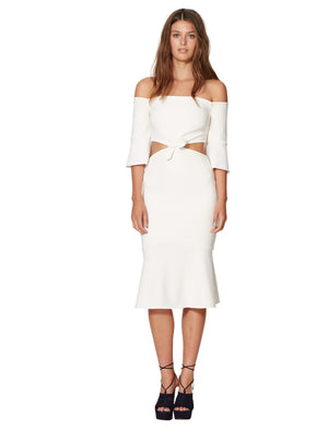 Bec & Bridge Gardenia Off Shoulder Dress