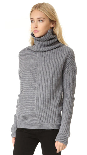Ministry of Style Drape Knit Sweater - Ivory