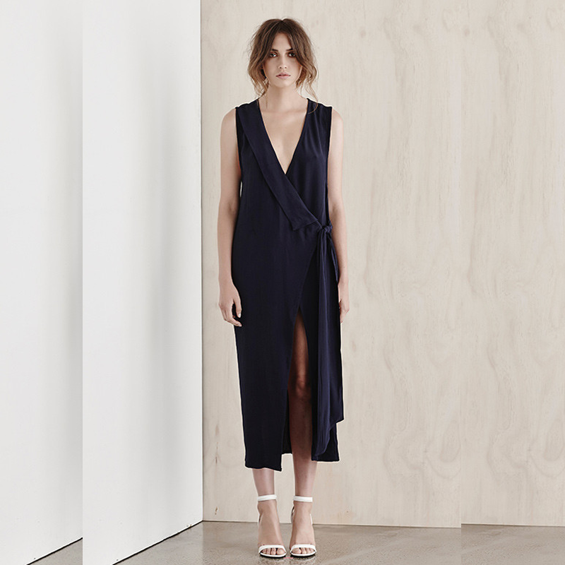 SIR The Label Isobel Wrap Dress - Style