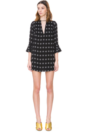 C/MEO Collective Spelt Out Long Sleeve Print Dress