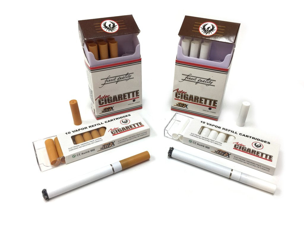 Electronic Actor Cigarette Prop Kit WHITE (Includes 2-Packs)