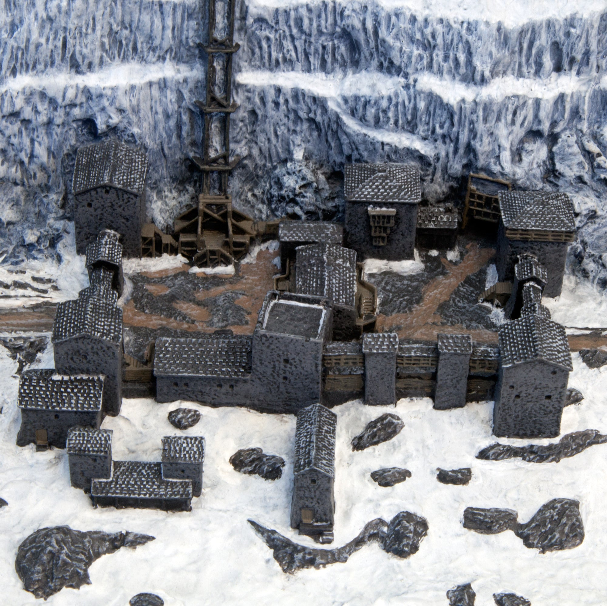 Game Of Thrones Castle Black The Wall Desktop Sculpture Movie