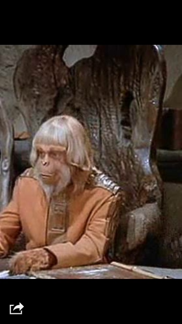 "ORIGINAL 1974 DR. ZAIUS ""PLANET OF THE APES"" CHAIR"
