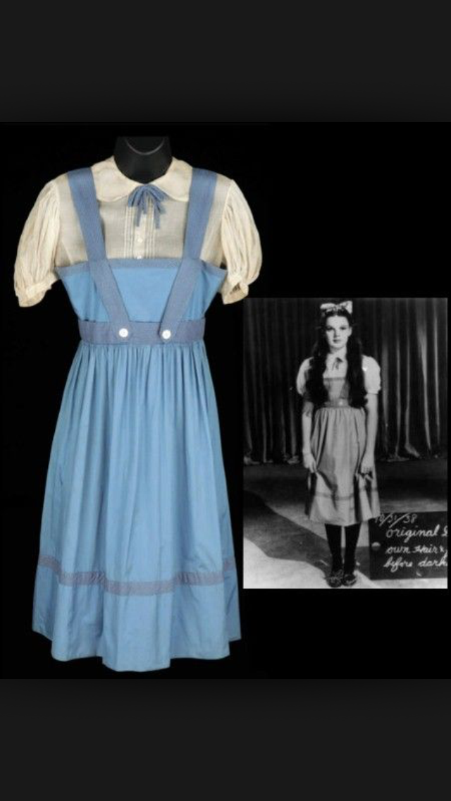 "ORIGINAL 1939 JUDY GARLAND ""WIZARD OF OZ"" DRESS"