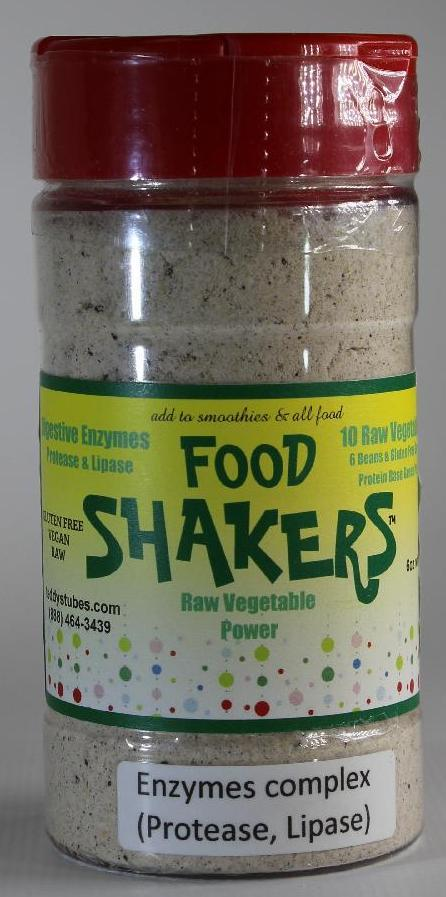 Food Shakers Raw Vegetables