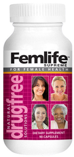 FEMLIFE SUPREME Woman's Health With Soy (isoflavones), Red Clover, Dong Quai and Black Cohosh.