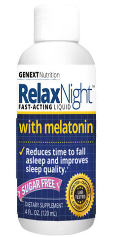 RELAX NIGHT MELATONIN Sleep Faster and Deeper Liquid Night Time