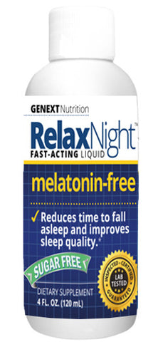RELAX NIGHT MELATONIN-FREE Liquid Form Blend Of Relaxing Ingredients Sleep Fast