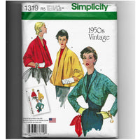 1950s Women's Jackets, Retro Simplicity 1319 Sewing Pattern, Miss 14-22, Uncut