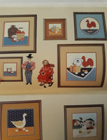 Country Applique Vol 1, Counted Cross Stitch Patterns - Over 30 Designs by Gloria & Pat - Rooster, Geese, Teddy Bear, more