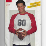 Size Large Men 80s Raglan Sport T-shirt Vintage Butterick 4038 Sewing Pattern Uncut