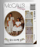 Size 4 Girls 90s Kitty Benton Special Occasions Dresses McCalls 6953 Sewing Pattern Uncut