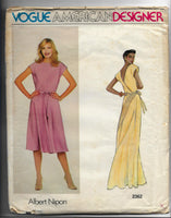 80s Albert Nipon Dress Size 12, Vogue American Designer 2362 Sewing Pattern, Uncut