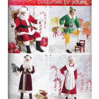 Sizes XS S M Christmas Costumes for Adults Simplicity 2542 Sewing Pattern - Santa Elf /Uncut