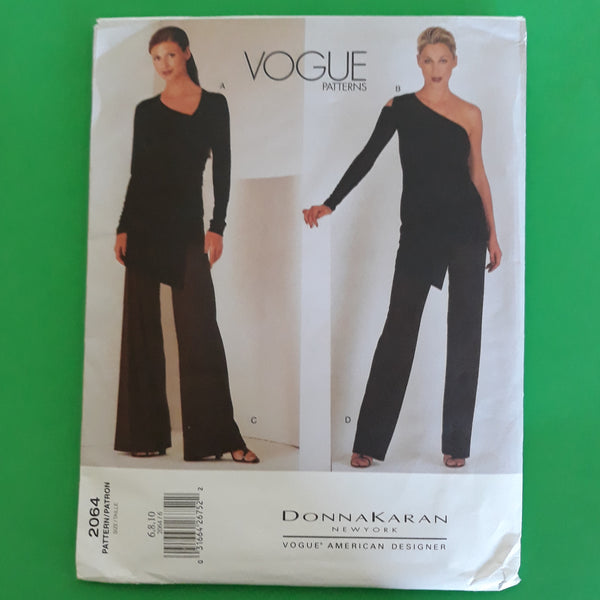 Donna Karan NY Tops and Pants Vogue American Designer 2064 Sewing Pattern Size 6-8-10 /Uncut