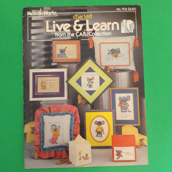 From CARi Collection - Charted Live & Learn Cross Stitch Needleworks Pattern No. 702