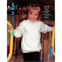 Mock Cables for Kids Aran Pullover Sweater Knit Pattern #127130