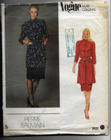 80s Pierre Balmain Vintage Vogue Paris Original 2620 Tunic and skirt Sewing Pattern Size 12 / Uncut