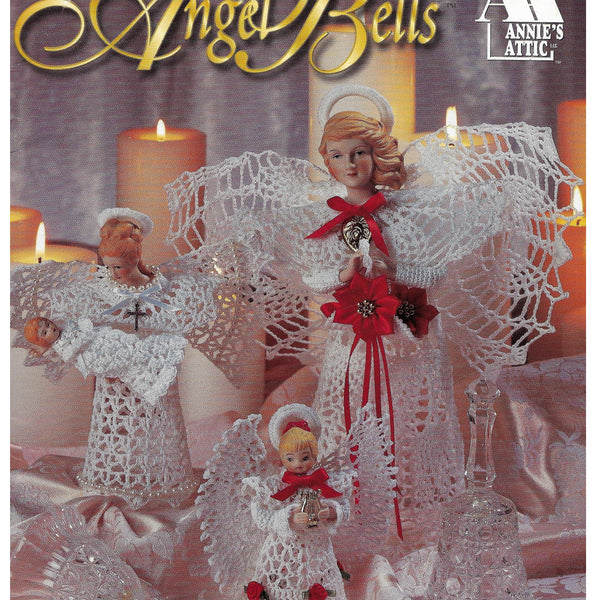 Angel Bells Sculptured Thread Crochet Patterns, Annies Attic 879711