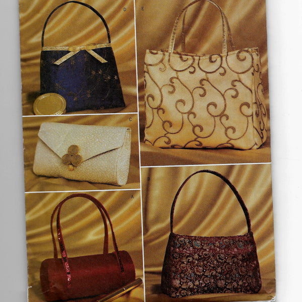 Evening Bags - Clutch Purse Handbags Butterick 3420 Sewing Pattern /Uncut