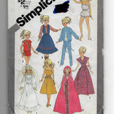 Vintage Barbie Doll Clothes Sewing Pattern Simplicity 5356