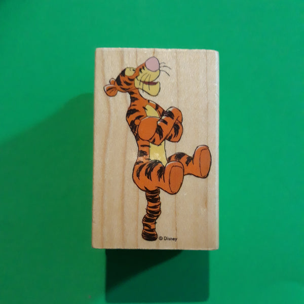 Bouncing Tigger, Disney / All Night Media Wood Mounted Rubber Stamp, Retired 1990s #997F04