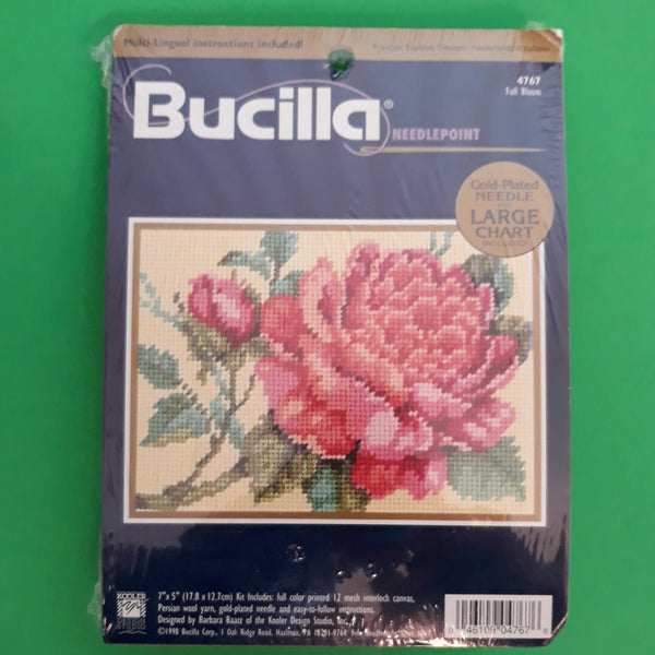 Full Bloom Roses - Bucilla Needlepoint Kit 4767