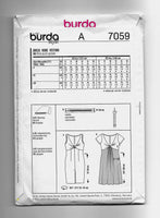 Burda Style 7059 Women's Twisted Front Dresses Sewing Pattern Sizes 6-16 Uncut