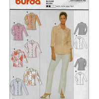 Miss Sizes 8-20 Burda 2561 Women 90s Blouses Sewing Pattern Uncut