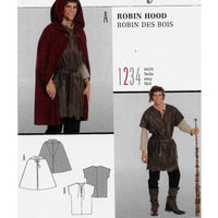 Men Robin Hood Costume Sewing Pattern Burda 7333 Sizes 38-48 / Uncut