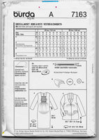 Maternity Sizes 8-20 Women Jacket Dress Sewing Pattern Burda 7163 Uncut