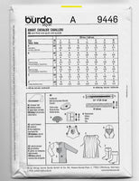 Child Sizes 4-10, Burda Kids 9446 Knight Costumes Sewing Pattern, Uncut