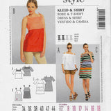 Size 8-18, Spaghetti and Off-shoulders Tops and Dress Burda 7221 Sewing Pattern Uncut