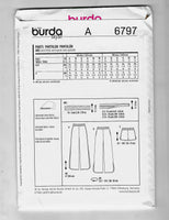 Size 8-18, Burda 6797 Side Vent Pull-on Pants and Shorts Sewing Pattern / Uncut