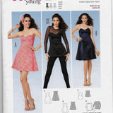 Size 6-20, Flirty Party Dresses and Top Burda 6930 Young Miss Sewing Pattern Uncut