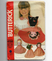 Reversible Dolls Sewing Pattern Butterick 4150 Red Riding Hood, Grandma, Wolf /Uncut