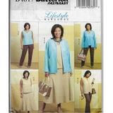 Plus Size 26W-32W Women Lifestyle Wardrobe Sewing Pattern Butterick B4817 Uncut
